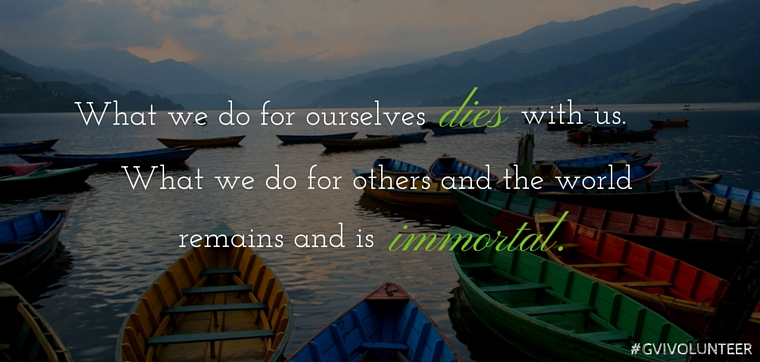 Quotes On Volunteering New 9 Inspirational Travel And Volunteering Quotes  Gvi Can