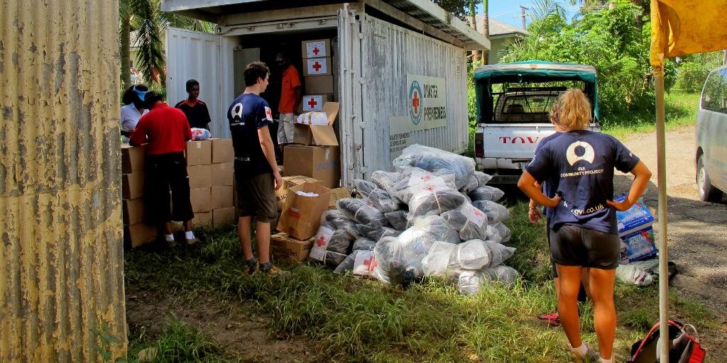 Volunteers working towards improved public health in a Fiji community
