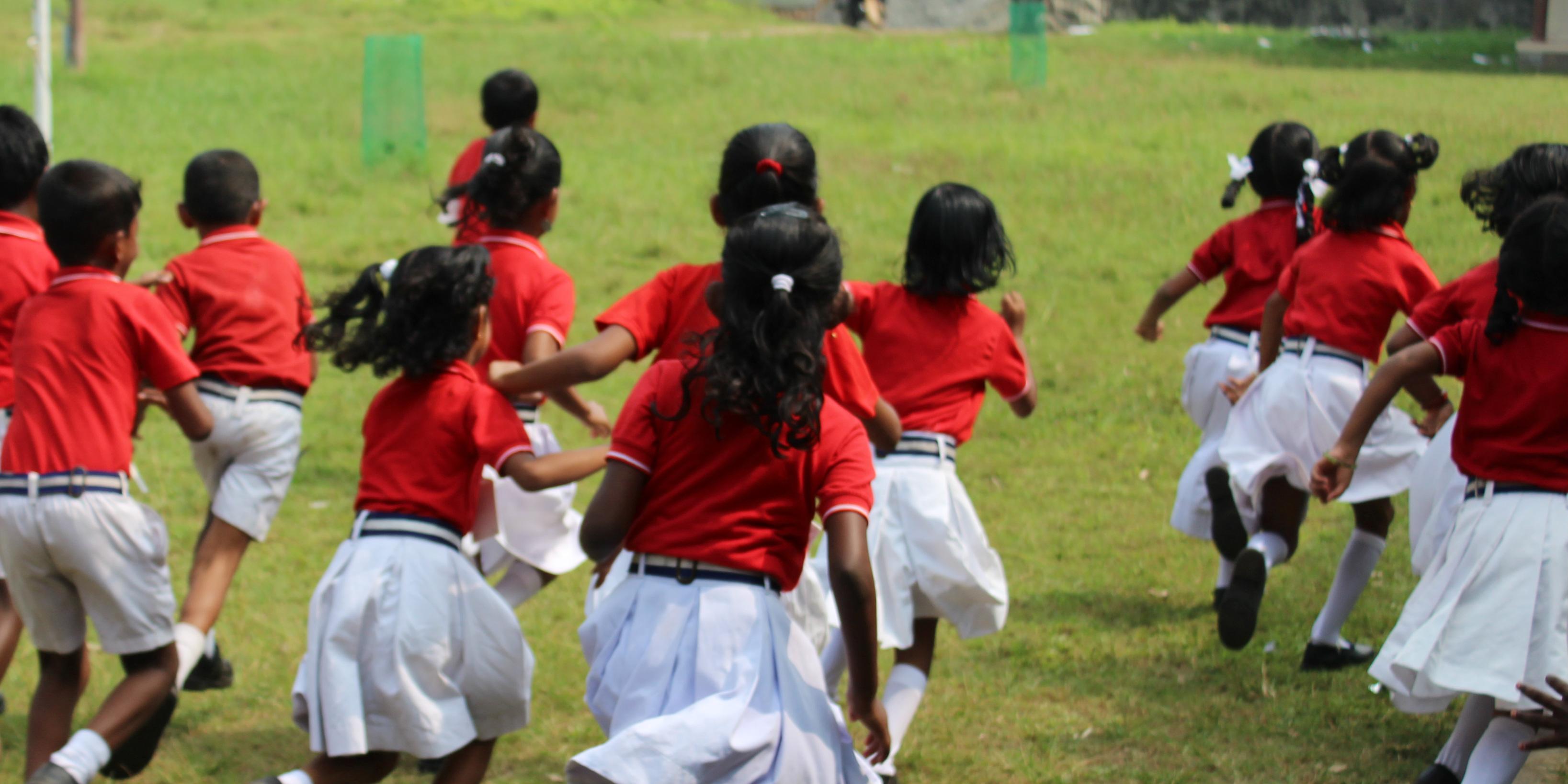 Teaching sports in Kerala