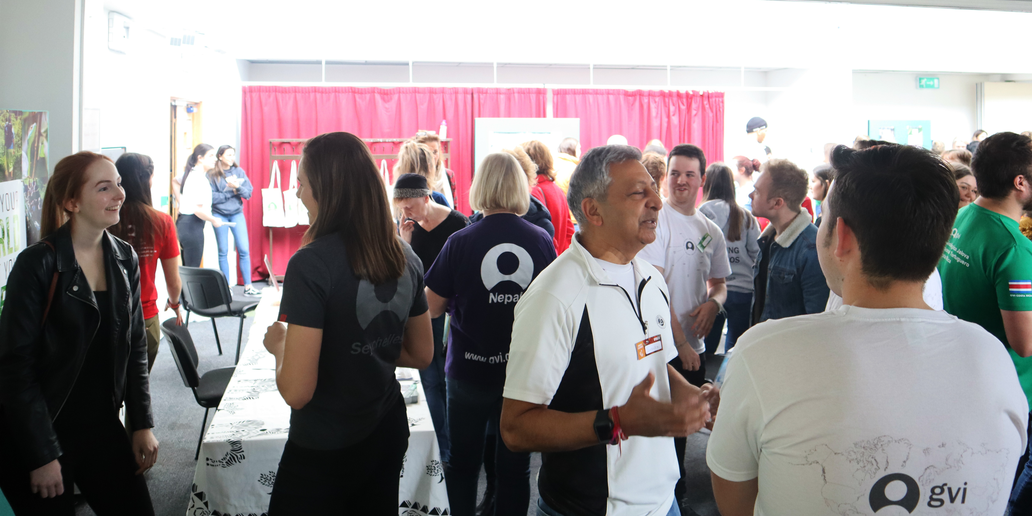 A crowd of volunteers and guests at the GVI open day in.