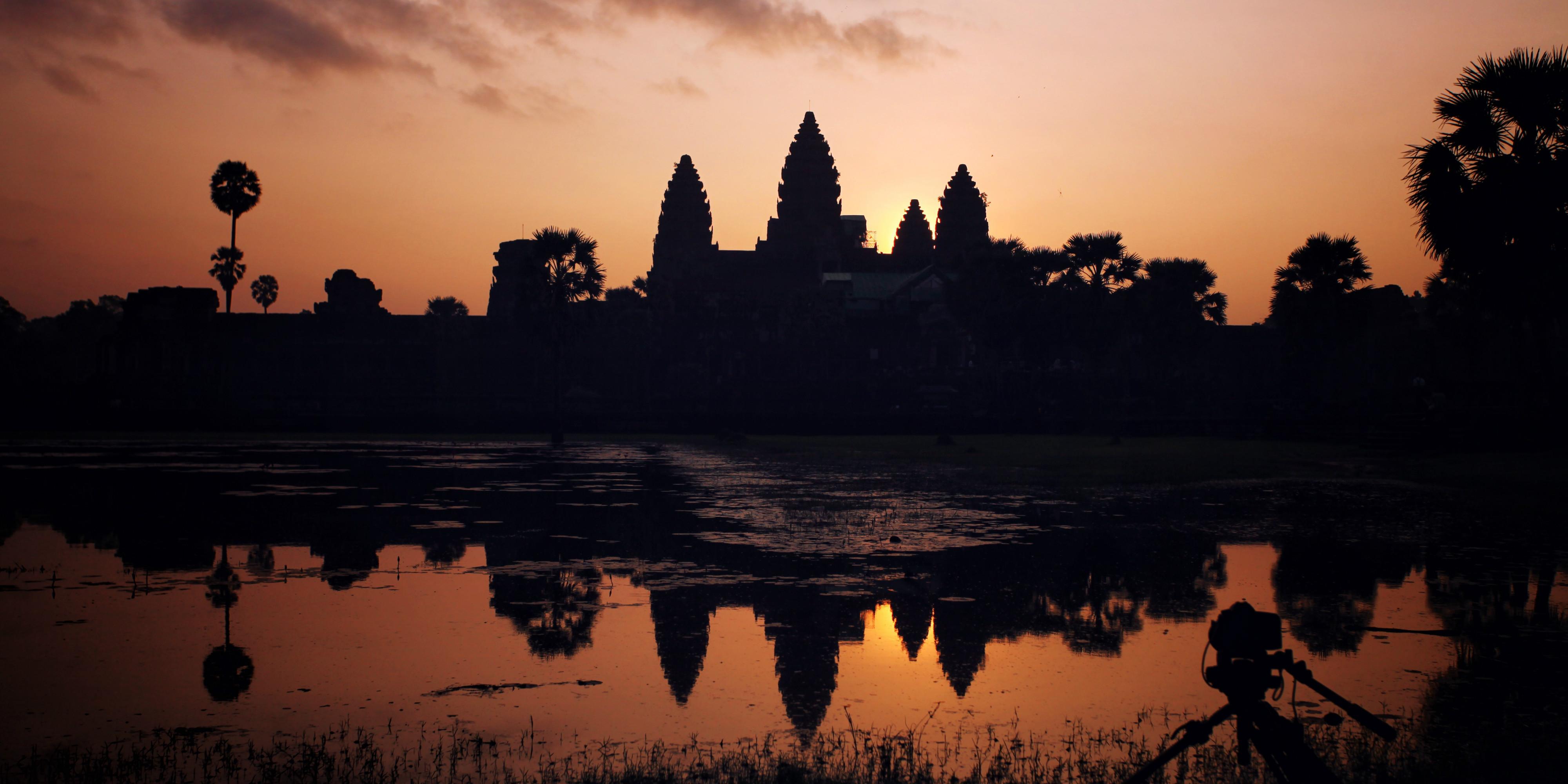 Sunrise over Angkor Wat