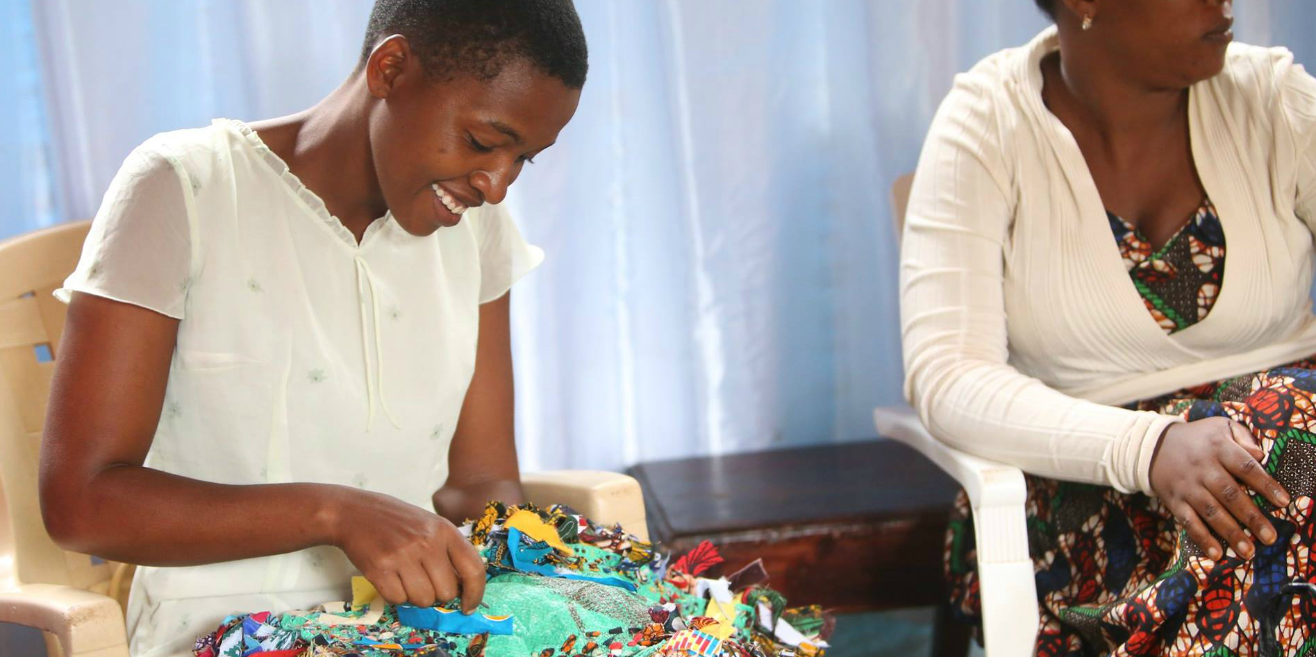 Tanzania volunteer programs such as this girl empowerment project, help young women to learn entrepreneurial skills.