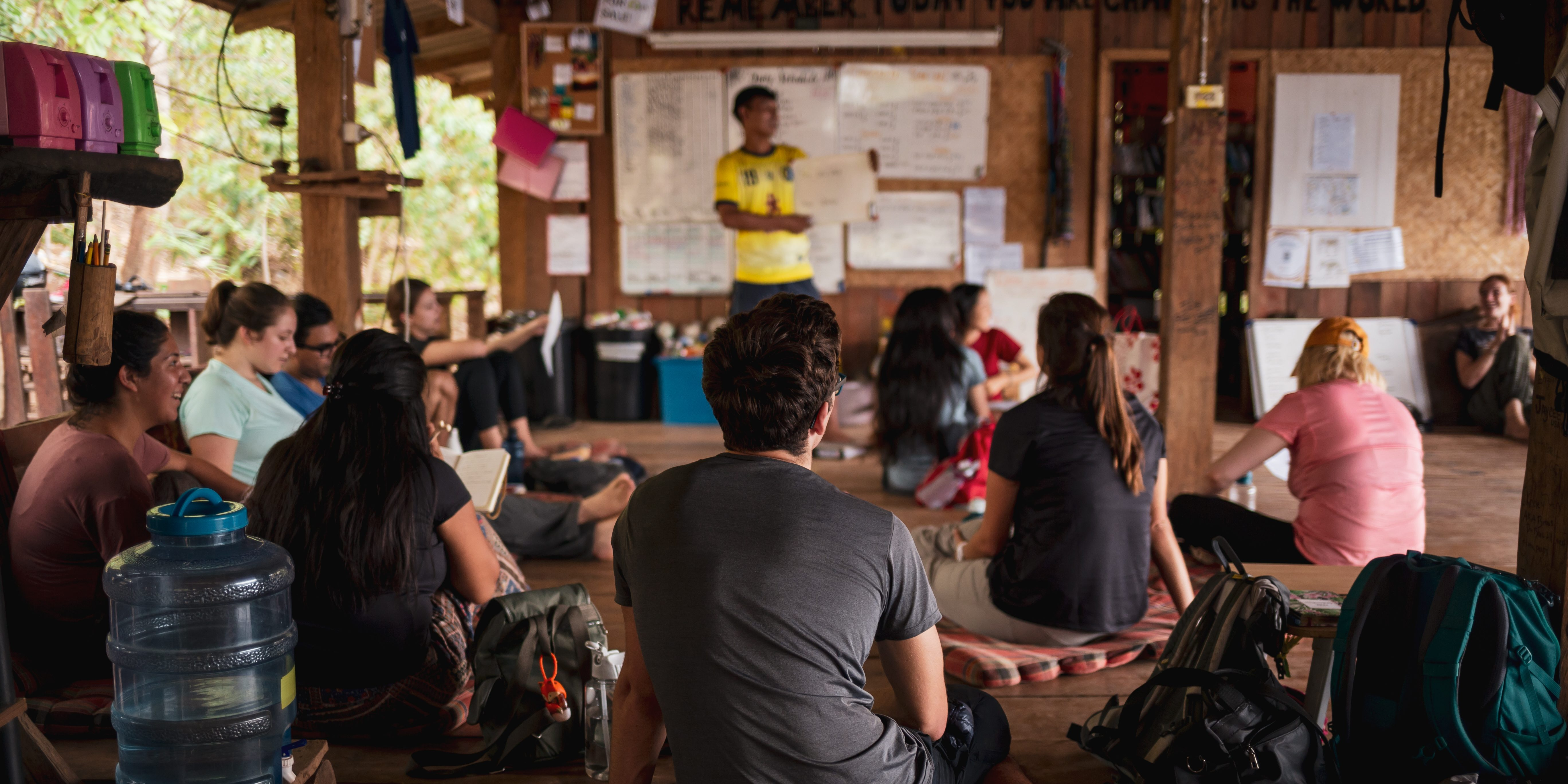 Participants apply a growth mindset while learning conservation techniques in Chiang Mai.