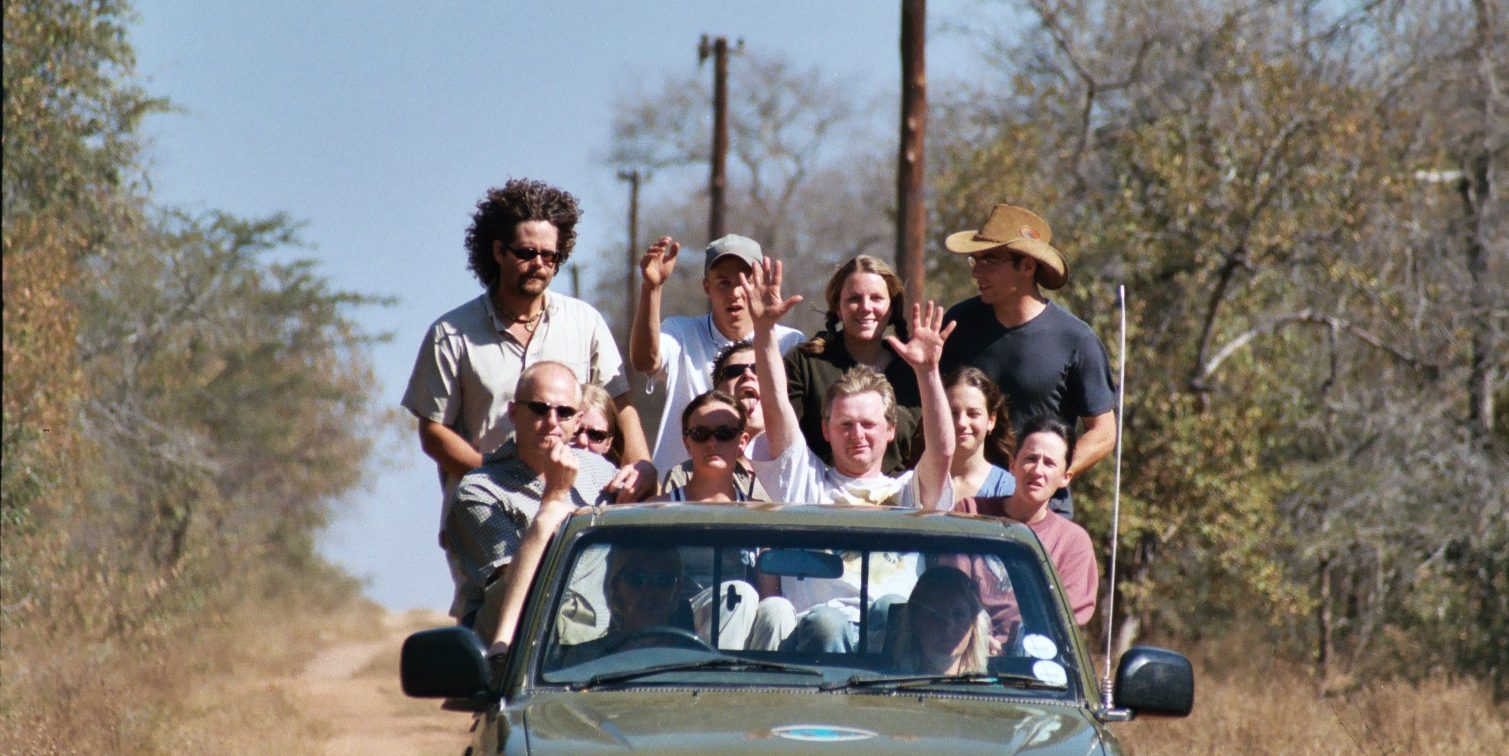 GVI participants enjoy a game drive while on a conservation volunteering program.