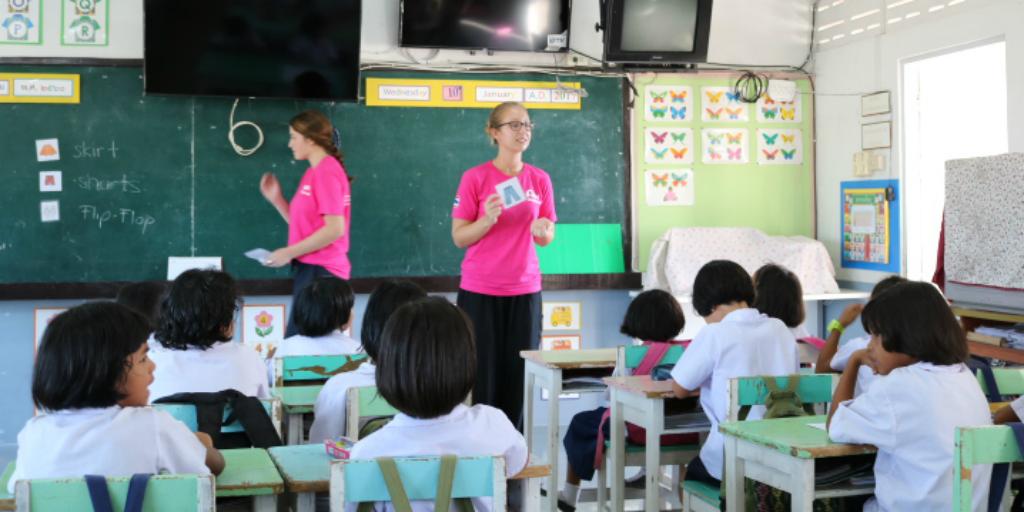 GVI volunteers making a sustainable impact on a teaching program