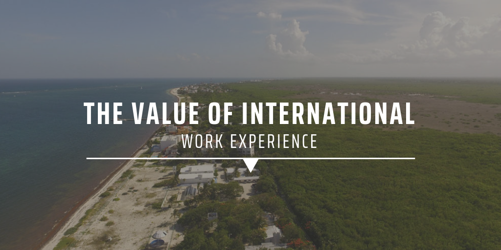 The value of international work experience.
