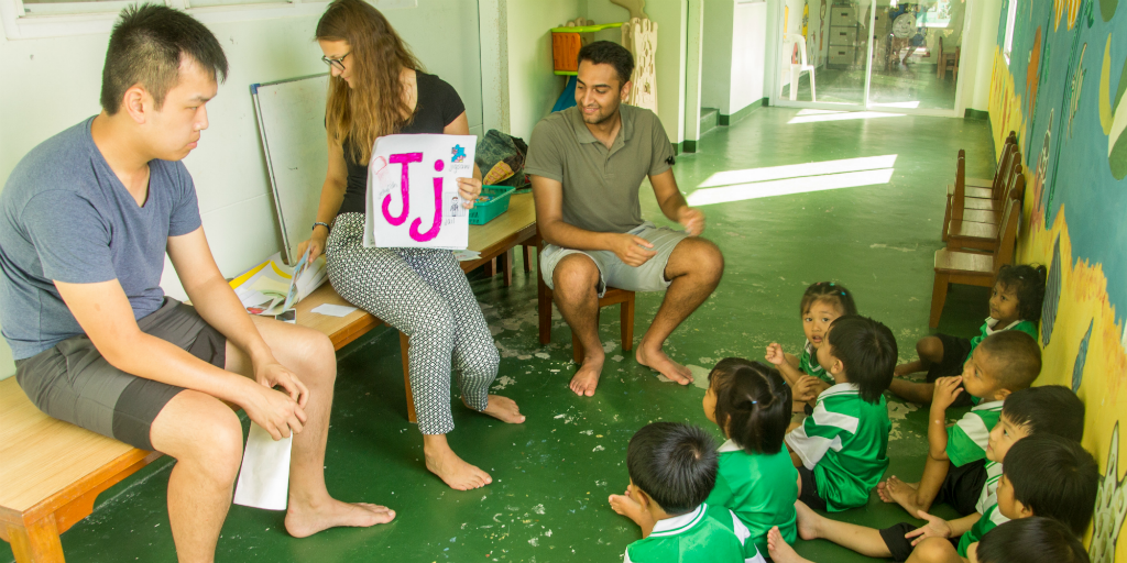 When you volunteer in Thailand it's important to note that going barefoot indoors is the norm