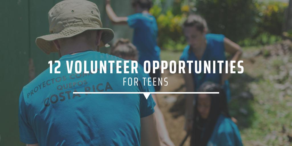12 volunteer opportunities for teens