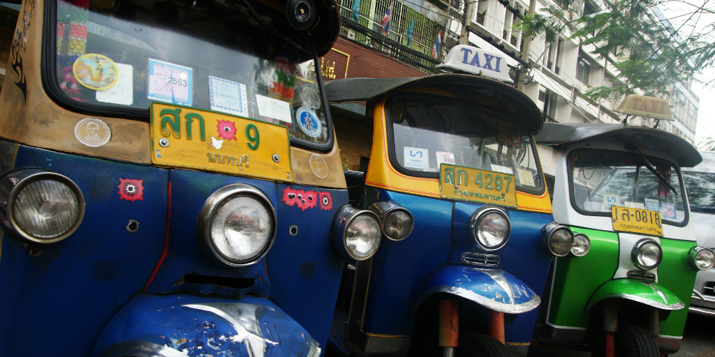 Grab a tuk tuk in Siem Reap to explore the cambodian city