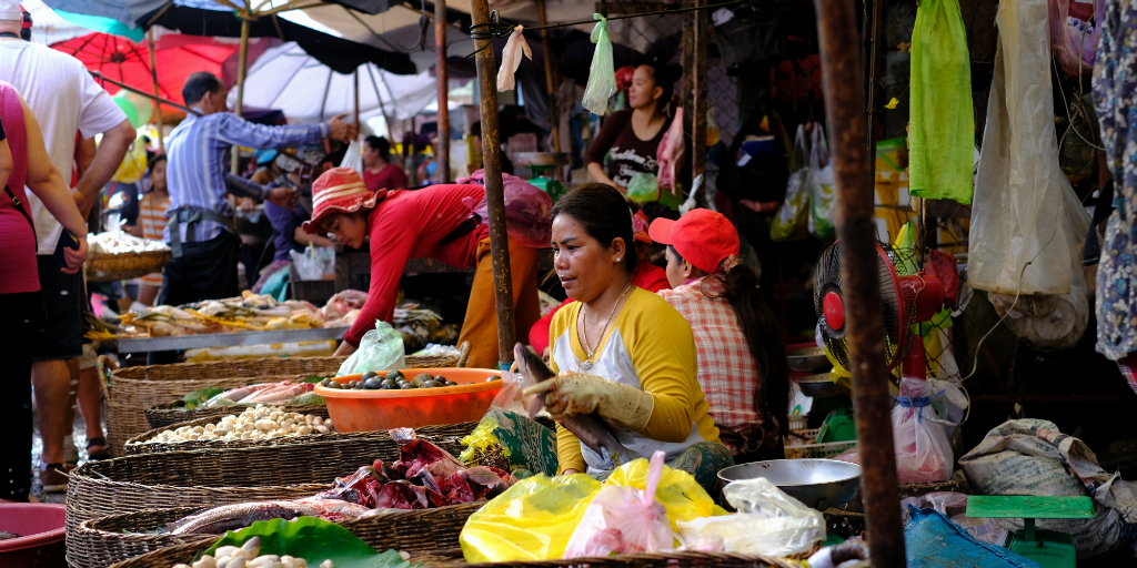 Siem Reap food market