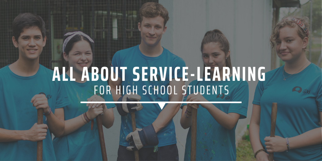 All about service-learning for high school students