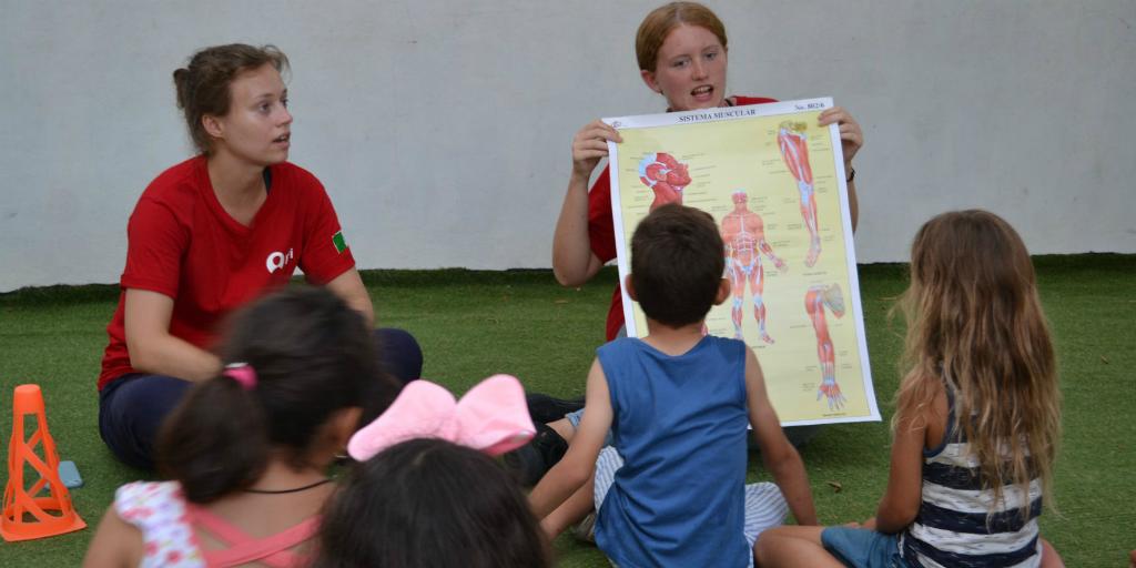 volunteers on a global public health program abroad