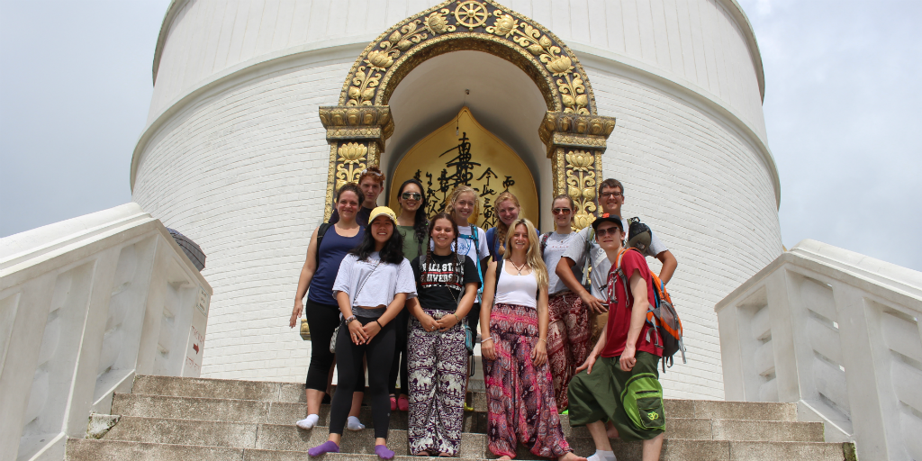 Travel to see the World Peace Pagoda in Pokhara, Nepal.