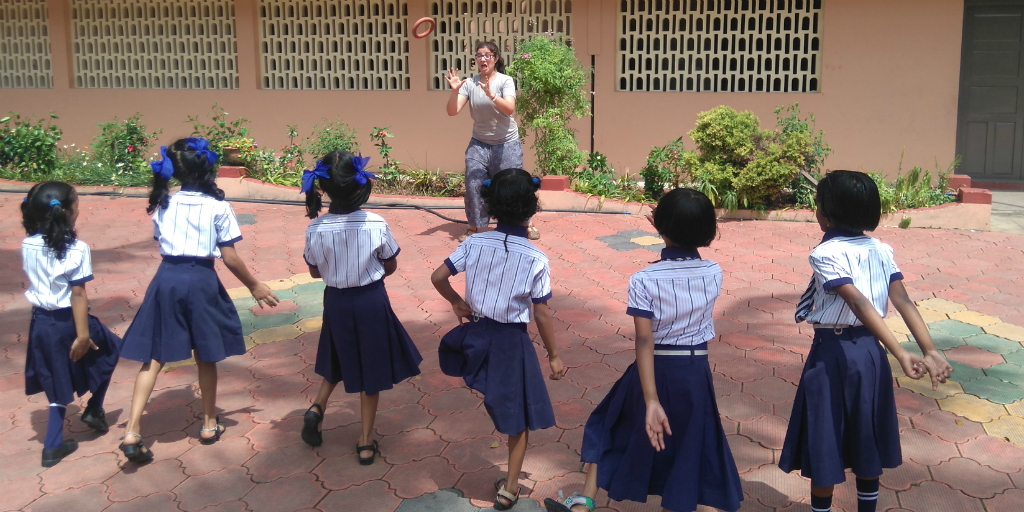 Learn a new language like Hindi when you volunteer with children in India.