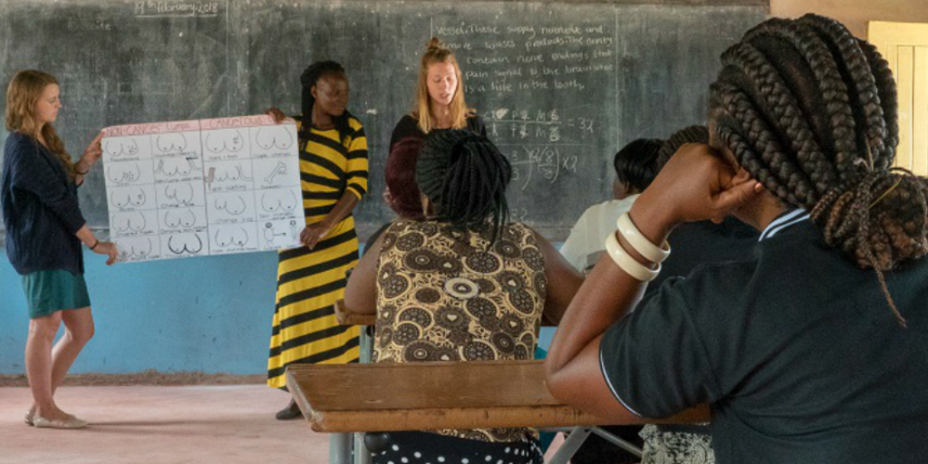 a womens empowerment lesson in Zambia
