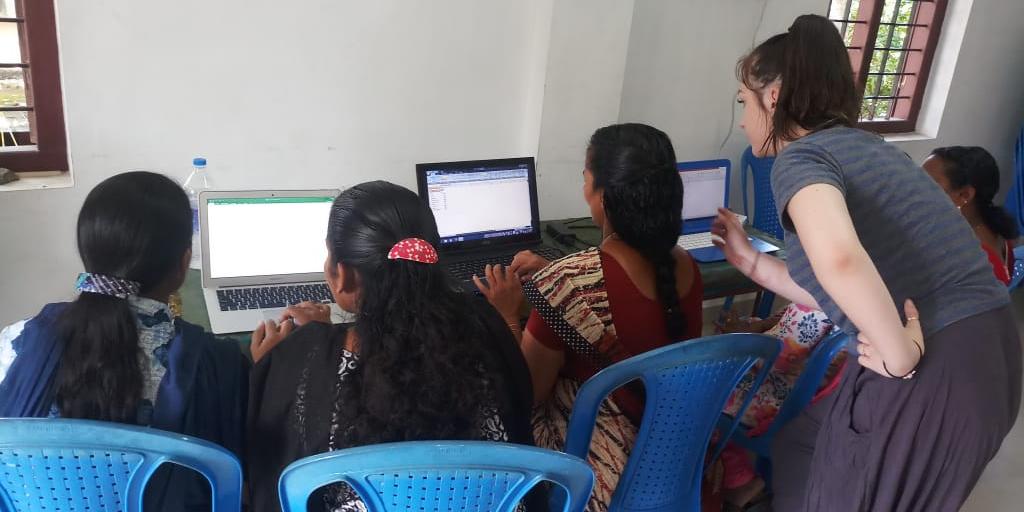 A GVI participant volunteering on our Women's Empowerment Program